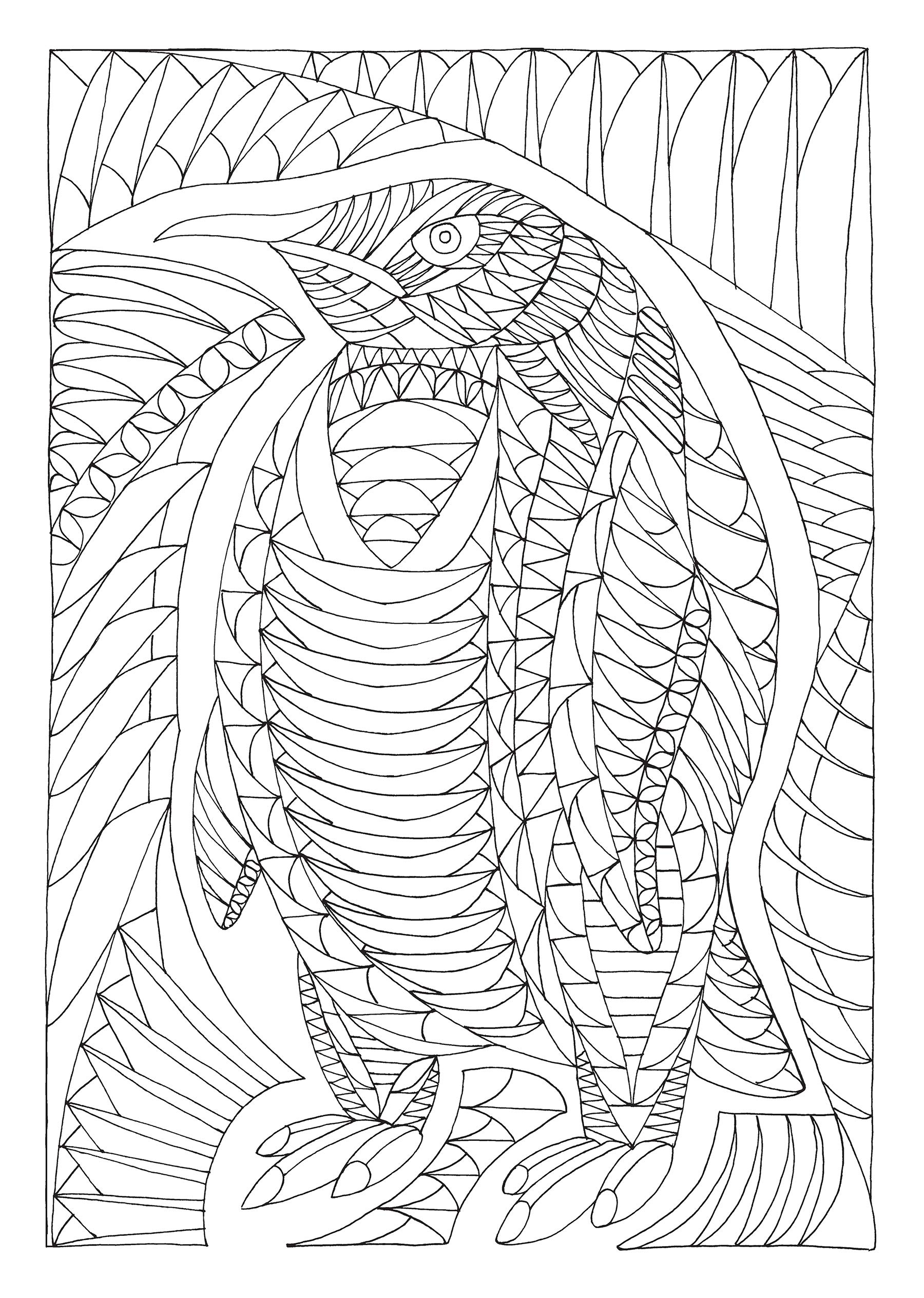 Creative Haven Insanely Intricate Angular Animals Coloring ...