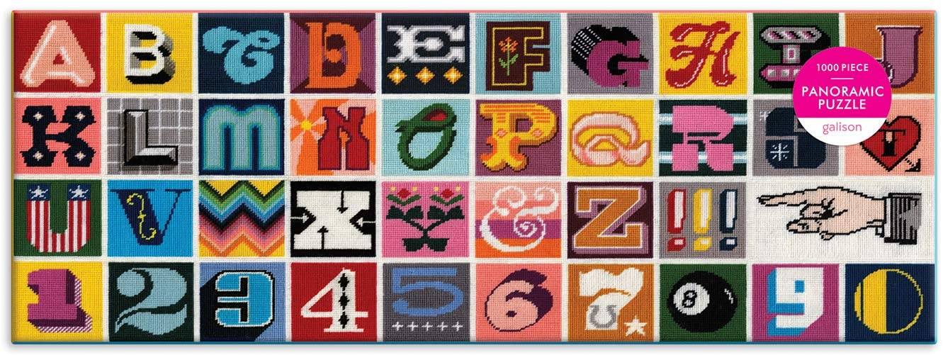 Needlepoint A to Z 1000pc Panoramic Puzzle - A2Z Science ...